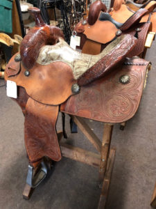 "18"" flat seat cutback gaited saddle"
