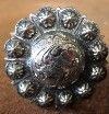 Caldwell Saddle - custom conchos antique yuma berry