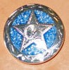 Caldwell Saddle - custom conchos blue aztec star