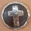 Caldwell Saddle - custom conchos bordered cross