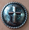 Caldwell Saddle - conchos copper cross/rope