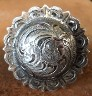 Caldwell Saddle - custom conchos fancy ant sterling