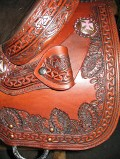 Caldwell Saddle - custom additions hanging hoofpick