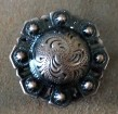 Caldwell Saddle - conchos rust copper flower
