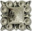 Caldwell Saddle - conchos old silver square