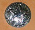 Caldwell Saddle - custom conchos shiny star