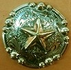 Caldwell Saddle - custom conchos silver star