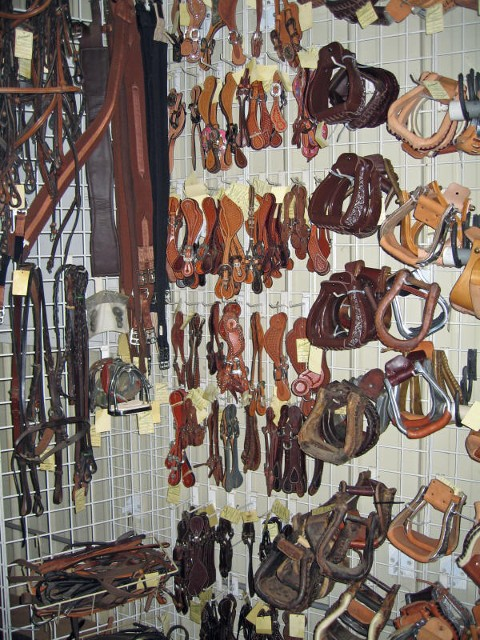 Caldwell Saddle - stirrups and spurs